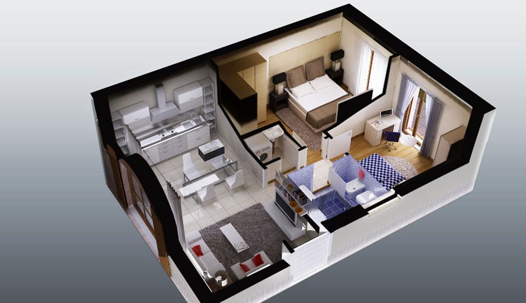 Come arredare piccoli appartamenti sogek for Arredare 3d