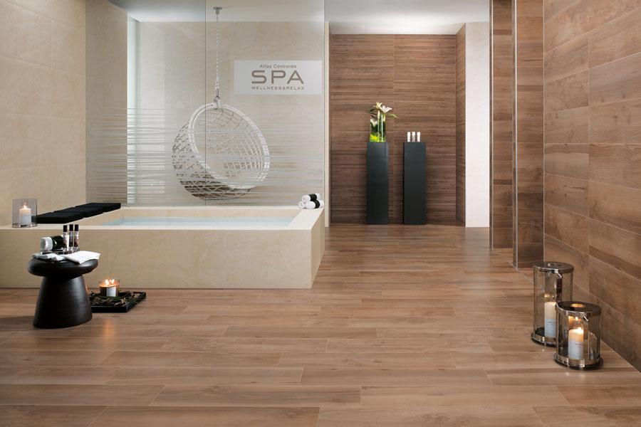 Pavimento in Gres porcellanato effetto legno - Sogek